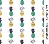 vector seamless pattern with... | Shutterstock .eps vector #639841795