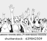 illustration of festvial girls... | Shutterstock .eps vector #639842509