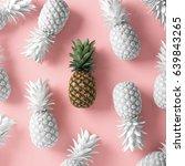 pineapple concept | Shutterstock . vector #639843265