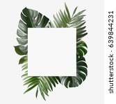 palm leafs background concept | Shutterstock . vector #639844231