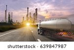 oil truck transport container... | Shutterstock . vector #639847987