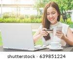 young beautiful asian woman... | Shutterstock . vector #639851224