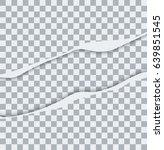 vector modern ripped torn paper ... | Shutterstock .eps vector #639851545
