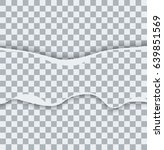 vector modern ripped torn paper ... | Shutterstock .eps vector #639851569