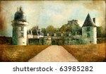 Gue-Pean castle (Loire valley) - artistic vintage picture - stock photo