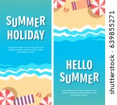 summer holiday concept vector... | Shutterstock .eps vector #639855271