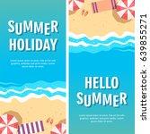 summer holiday concept vector...   Shutterstock .eps vector #639855271