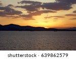 beautiful yellow sunset over...   Shutterstock . vector #639862579