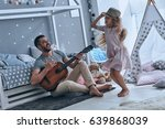 having fun together. young... | Shutterstock . vector #639868039