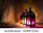 eid lamps or colorful lanterns... | Shutterstock . vector #639872161
