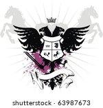 heraldic eagle double head in... | Shutterstock .eps vector #63987673