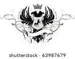 heraldic eagle double head in... | Shutterstock .eps vector #63987679