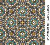 seamless oriental pattern.... | Shutterstock . vector #639883501