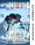 health care researchers working ... | Shutterstock . vector #639884155