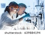 health care researchers working ... | Shutterstock . vector #639884194