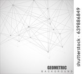 geometric abstract background... | Shutterstock .eps vector #639886849