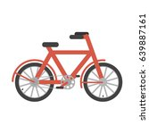 red bicycle. bicycle isolated... | Shutterstock .eps vector #639887161