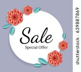sale and special offer with... | Shutterstock .eps vector #639887869
