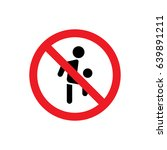 no soccer player icon... | Shutterstock .eps vector #639891211