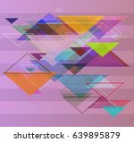 geometry elements background | Shutterstock .eps vector #639895879