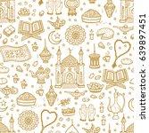eid mubarak seamless pattern.... | Shutterstock .eps vector #639897451