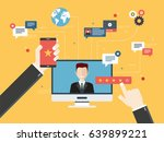 evaluation of online support ... | Shutterstock .eps vector #639899221