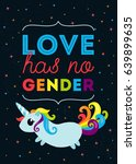 love has no gender. lgbt... | Shutterstock .eps vector #639899635