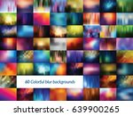 set of colored blurred... | Shutterstock .eps vector #639900265