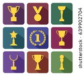 awards and cups  colorful set ... | Shutterstock .eps vector #639902704