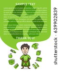 superhero with recycle sign... | Shutterstock .eps vector #639902839