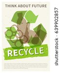 recycle garbage vector... | Shutterstock .eps vector #639902857