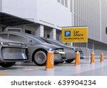 fleet of autonomous vehicles in ... | Shutterstock . vector #639904234