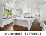 white kitchen interior with... | Shutterstock . vector #639905575