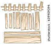 blank wooden signs set | Shutterstock .eps vector #639909394