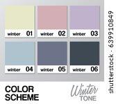 color chart for winter   vector ... | Shutterstock .eps vector #639910849