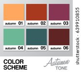 color chart for autumn   vector ... | Shutterstock .eps vector #639910855