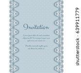 elegant invitation or greeting... | Shutterstock .eps vector #639911779