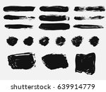 set of black paint  ink brush... | Shutterstock .eps vector #639914779