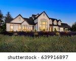 beautiful luxury home exterior... | Shutterstock . vector #639916897