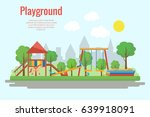 children's playground vector... | Shutterstock .eps vector #639918091
