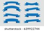 ribbon banner vector background ... | Shutterstock .eps vector #639922744