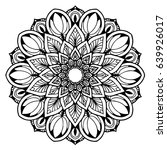 mandalas for coloring book.... | Shutterstock .eps vector #639926017