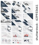 blue elements for infographics...