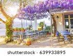 terrace of outdoor small retro... | Shutterstock . vector #639933895