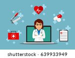 health care online consultation ... | Shutterstock .eps vector #639933949