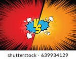 fight backgrounds comics style... | Shutterstock .eps vector #639934129