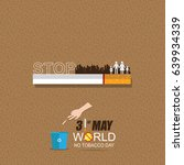 world no tobacco day may 31 | Shutterstock .eps vector #639934339