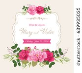 wedding invitation cards with... | Shutterstock .eps vector #639935035