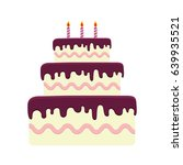 birthday cake icon | Shutterstock .eps vector #639935521