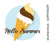 hello summer circle icon and... | Shutterstock .eps vector #639935659
